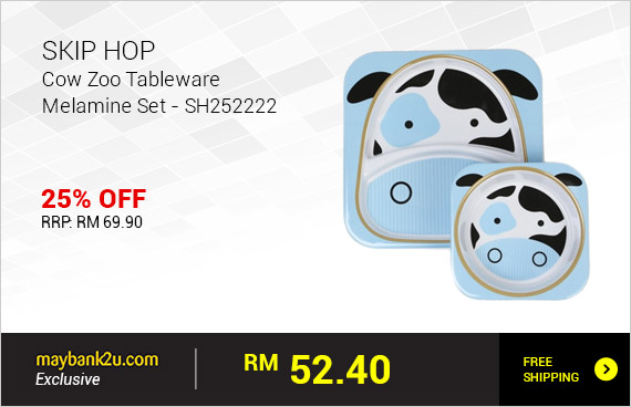 SKIP HOP Cow Zoo Tableware Melamine Set - SH252222