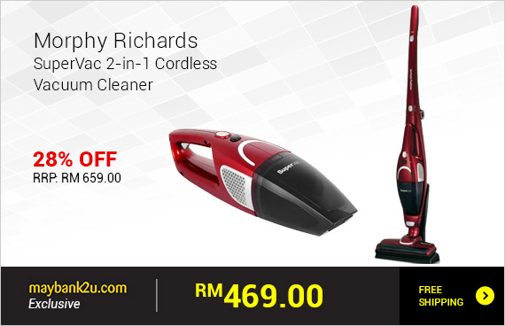 Morphy Richards SuperVac 2-in-1 Cordless Vacuum Cleaner - 732005
