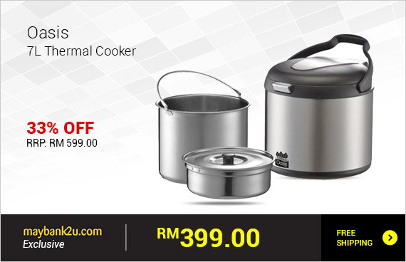 Oasis 7L Thermal Cooker