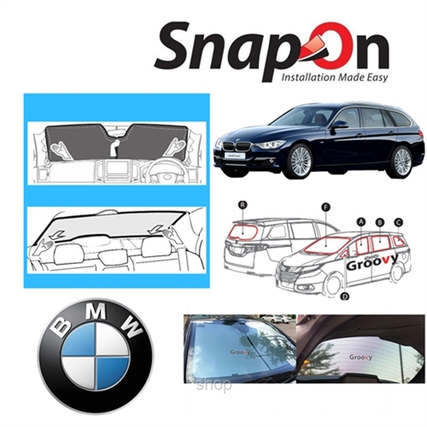 Groovy BMW WAGON SNAP-ON Car Sunshades - R Row-0