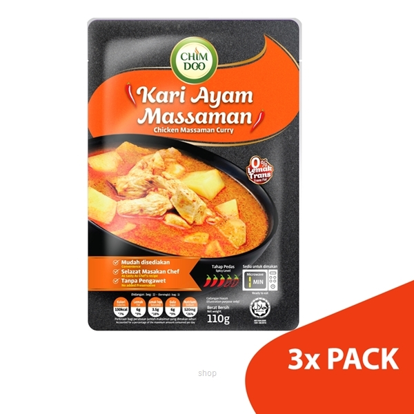 ChimDoo Chicken Massaman Curry 3's x 110g-0