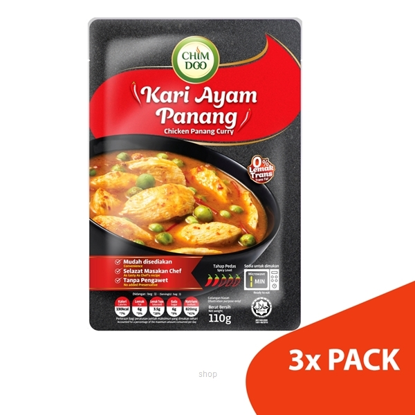 ChimDoo Chicken Panang Curry 3's x 110g-0