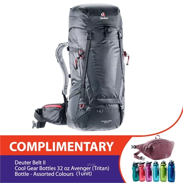 Deuter Futura Vario 50+10 Trekking Backpack Complimentary Deuter Belt II + Cool Gear Bottles 32 oz Avenger (Tritan) Bottle-0