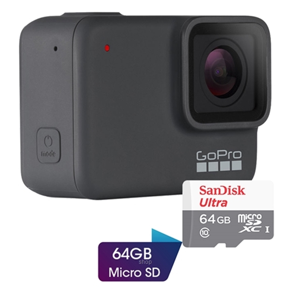 GoPro Hero 7 Silver Action Camera Complimentary Sandisk 64GB Micro SD-0