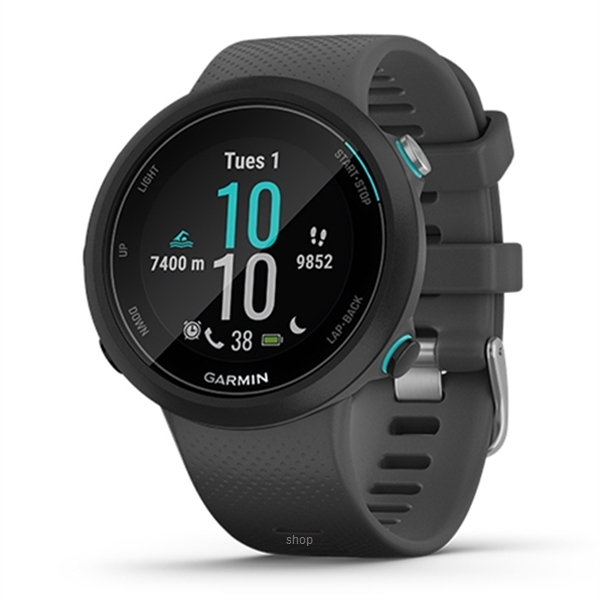 Garmin Swim 2 Slate GPS Swimming Smartwatch for the Pool and Open Water - 010-02247-60T-0