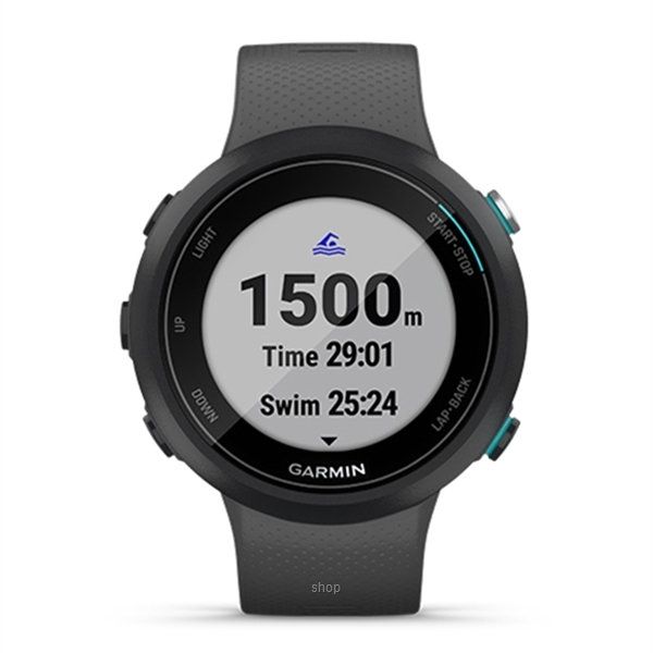 Garmin Swim 2 Slate GPS Swimming Smartwatch for the Pool and Open Water - 010-02247-60T-1
