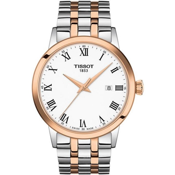 Tissot T129.410.22.013.00 Men's Quartz T-Classic Classic Dream Two-Tone Stainless Steel Bracelet Watch-0