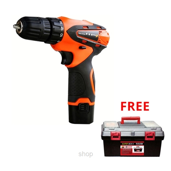 [FREE GIFT] Mark X 46pcs 12v Cordless Drill Set MKX-2010 FREE Worker Super Box WK-0506-0