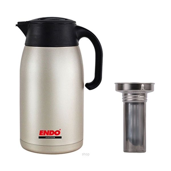 Endo 1.5L Double Stainless Steel Handy Jug + Tea Strainer - CX-2015-1