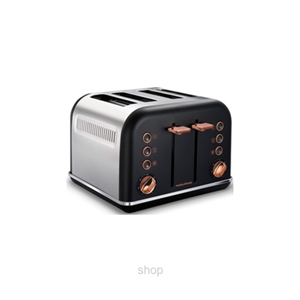 Morphy Richards Accents Rose Gold Toaster Black - 242104-0
