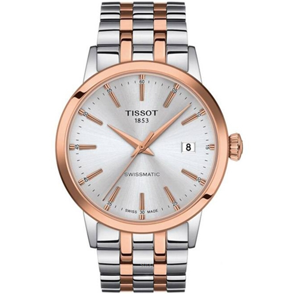Tissot T129.407.22.031.00 Men's Automatic T-Classic Classic Dream Swissmatic Two-Tone Stainless Steel Bracelet Watch-0