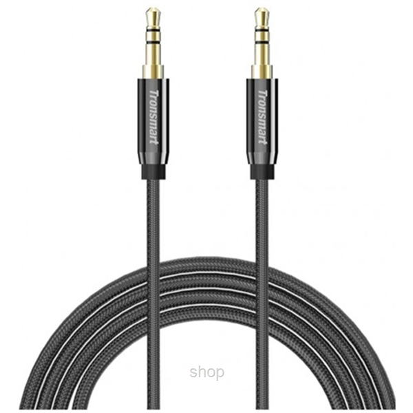 Tronsmart Nylon Double Braided 3.5mm Stereo Audio Cable 1.2M (Gold Connector) - SC301-0