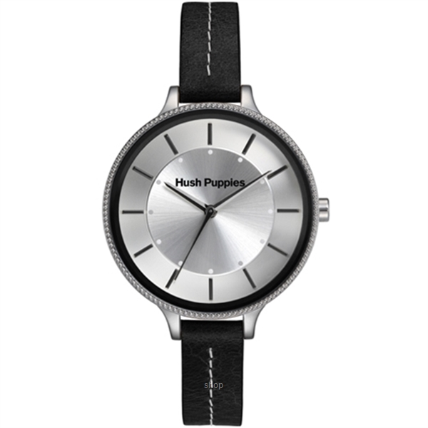 Hush Puppies Orbz Black Leather Strap Women Watch - HP.3831L.2502-0