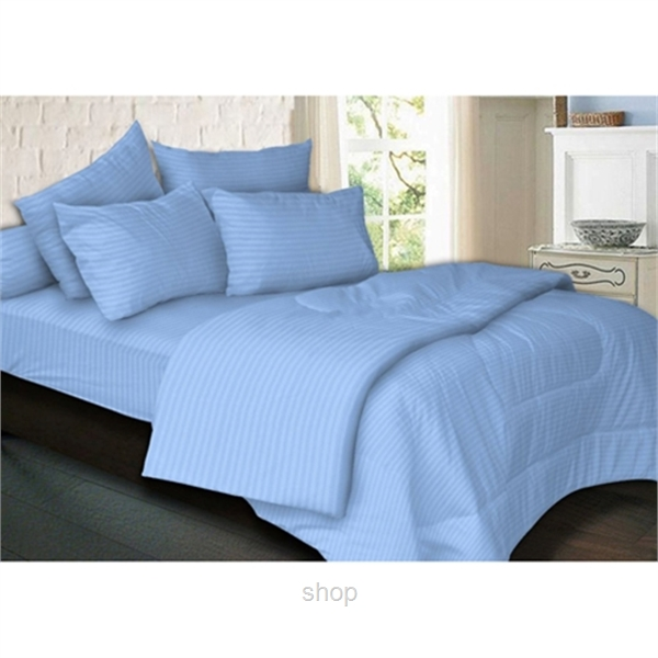 Essina 680TC Palette Collection Fitted Sheet Set Blue-0