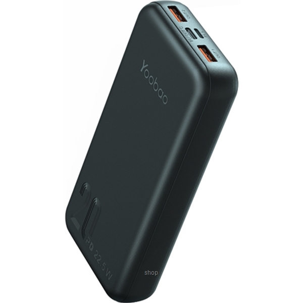 Yoobao 20000mAh Super Fast Charge Portable Slim Power Bank Black - Q20-2