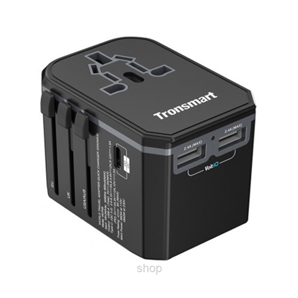 Tronsmart Universal Travel Adapter with USB-C PD & Quick Charge 3.0 - WCP05-0