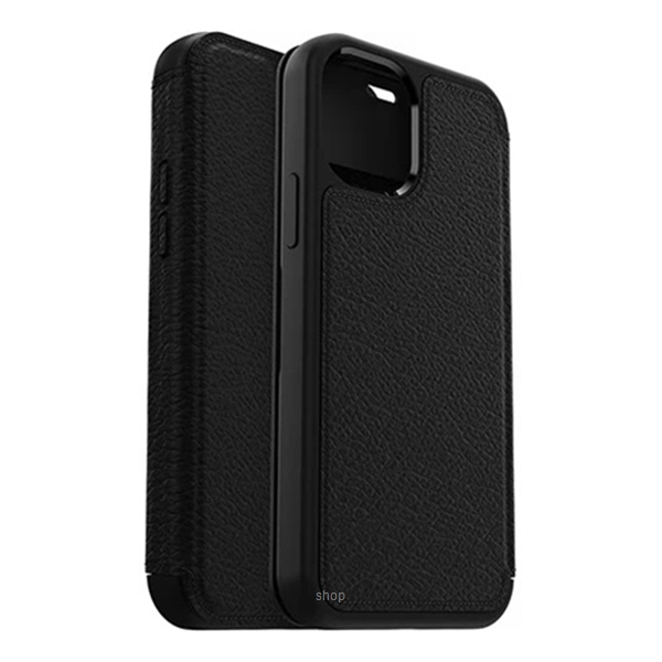 Otterbox Strada Series Case for iPhone 12 / iPhone 12 Pro (Shadow Black) - 77-65420-4