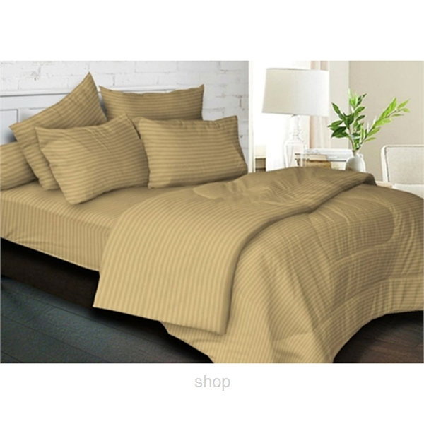 Essina 680TC Palette Collection Fitted Sheet Set Brown-0