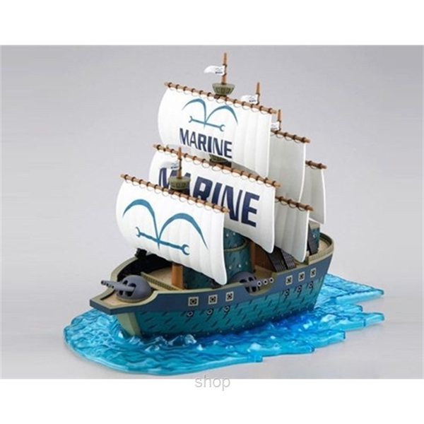 Dlittle Anime One Piece Marine Ship Model-1