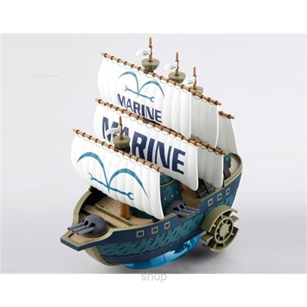 Dlittle Anime One Piece Marine Ship Model-2