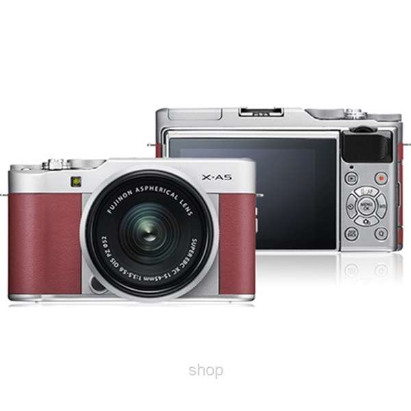 Fujifilm X-A5 Mirrorless Digital Camera with 15-45mm Lens + 32GB-1