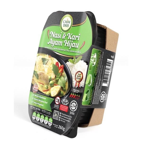 [Bundle Pack] ChimDoo Chicken Tom Yam and Thai Jasmine Rice 260g + Green Curry with Chicken and Thai Jasmine Rice 260g-1
