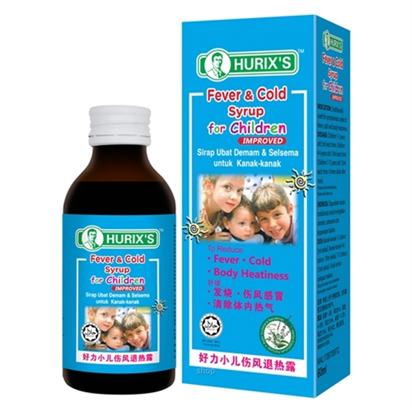 Hurix's Fever & Cold Syrup for Children (60ml)-0