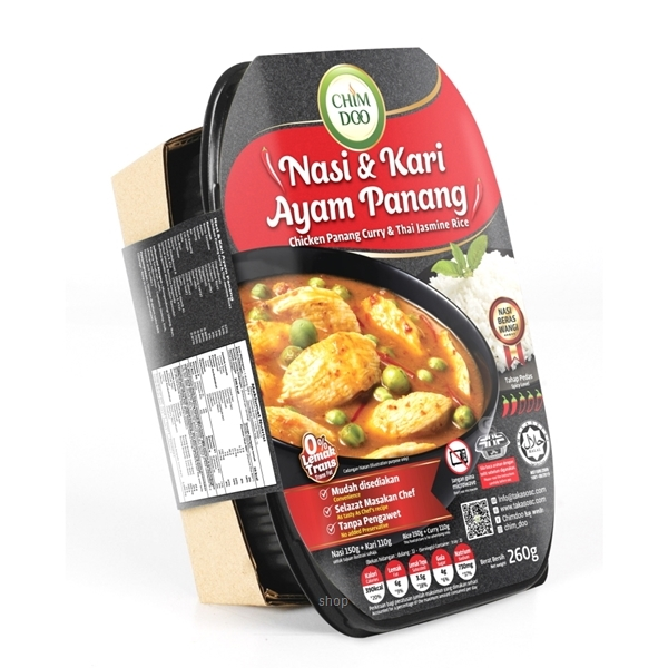 [Bundle Pack] ChimDoo Chicken Panang Curry and Thai Jasmine Rice 260g + Green Curry with Chicken and Thai Jasmine Rice 260g-2