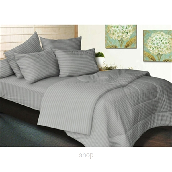 Essina 680TC Palette Collection Quilt Cover Set Grey-0