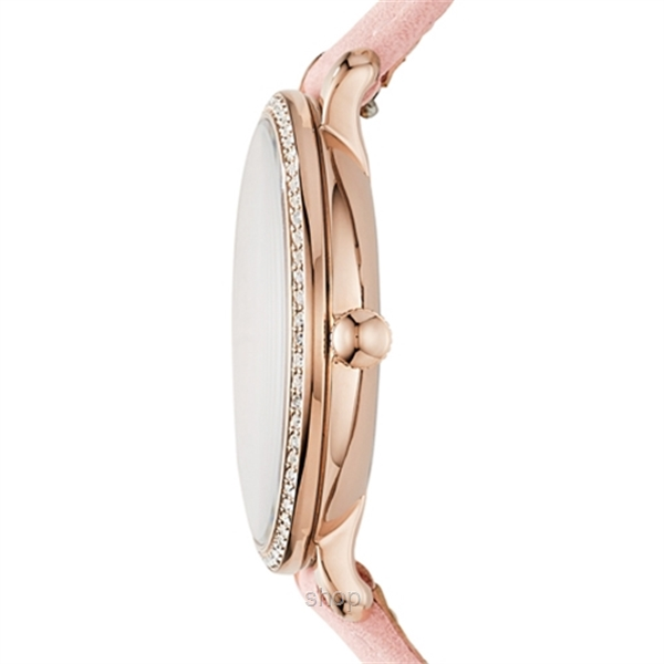 Fossil ES4303 Women Jacqueline Three-Hand Date Blush Leather Watch-1