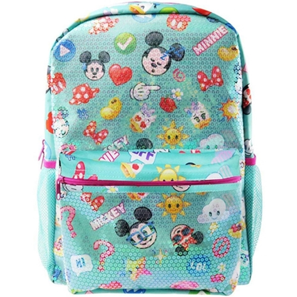 PSD Disney Mickey Mouse Emoji Sequin Teen Backpack - 31-2-223-4992-0