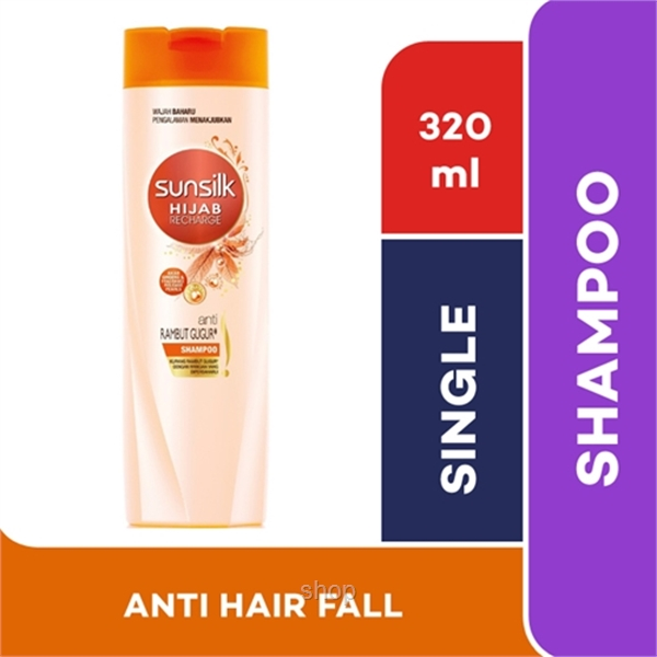 Sunsilk Shampoo Hijab Recharge Lively Strong Hair Fall Solution 320ml - 8851932373531-0