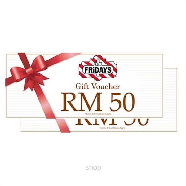 TGI Fridays Italiannies The Apartment Dining voucher RM100 (RM50 x 2pcs)-0
