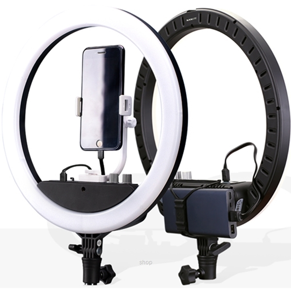 Nanlite Halo 14U LED Ring Light + L170 Small Light Stand - 3150-HALO-14U (For Peninsular Malaysia Only)-0