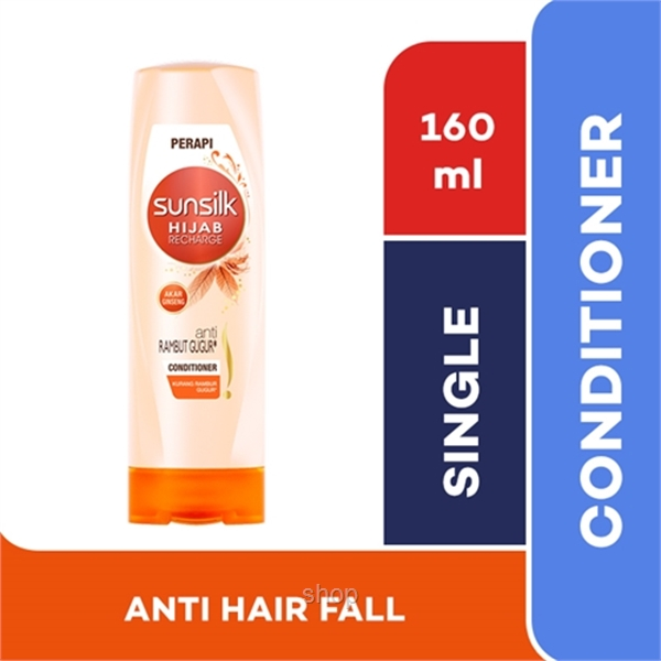 Sunsilk Hair Conditioner Hijab Recharge Hair Fall Solution 160ml - 8851932373548-0