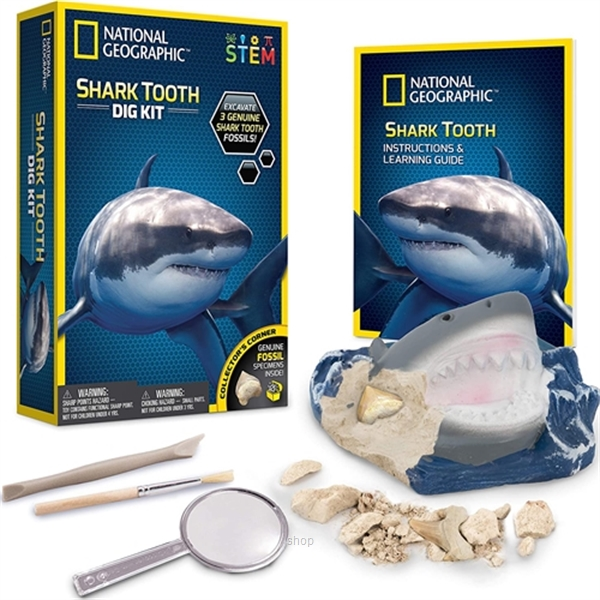 National Geographic Shark Teeth Dig Kit-0