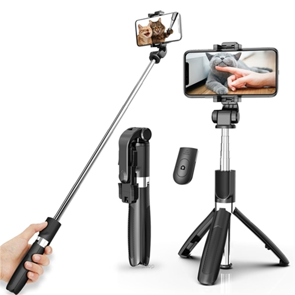 WATTS L01S 3-in-1 Bluetooth Selfie Stick Monopod Tripod for IOS Android-0