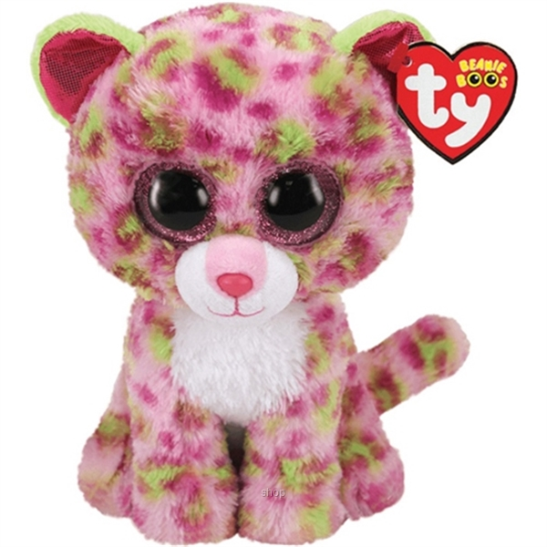 TY Beanie Boos 25cm Lainey Pink Leopard-0