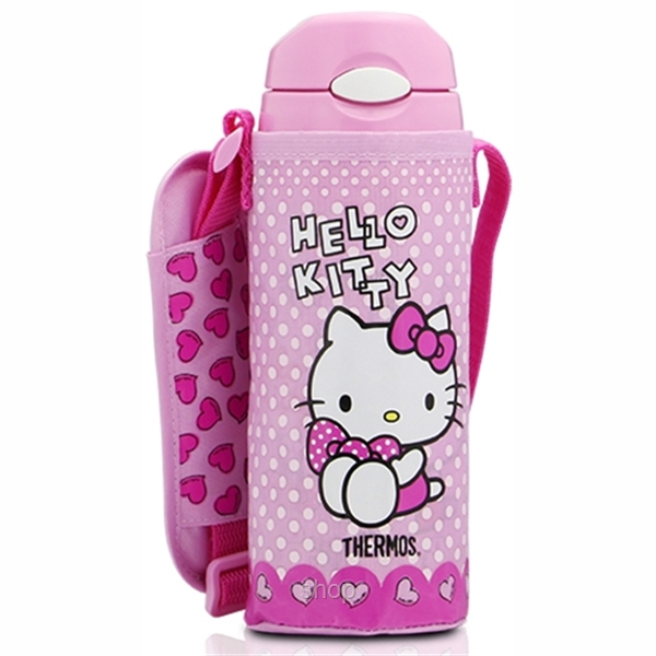 Thermos 0.40L Hello Kitty Iced Bottle with Pouch + 0.3L Food Jar Gift Set - GSKT-FHL+JBJ-1