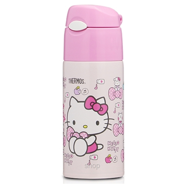 Thermos 0.40L Hello Kitty Iced Bottle with Pouch + 0.3L Food Jar Gift Set - GSKT-FHL+JBJ-3