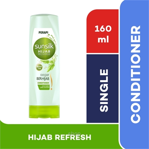 Sunsilk Hair Conditioner Hijab Recharge Hijab Refresh 160ml - 8851932373418-0