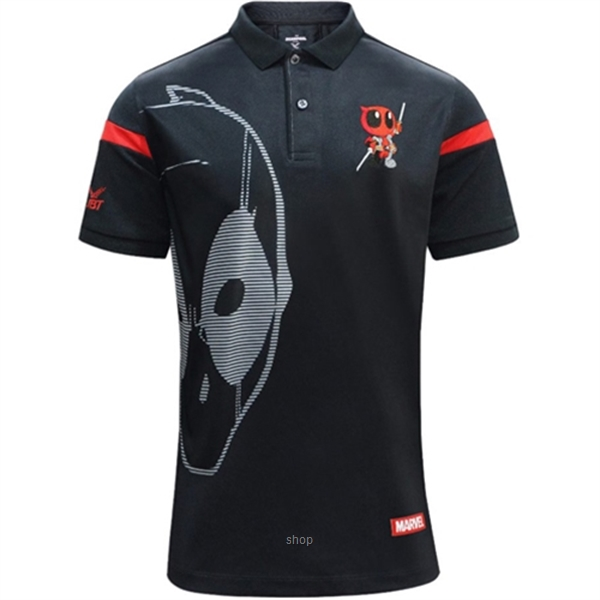 FBT Deadpool Movie Polo Black/Red - 12P1206BR-0