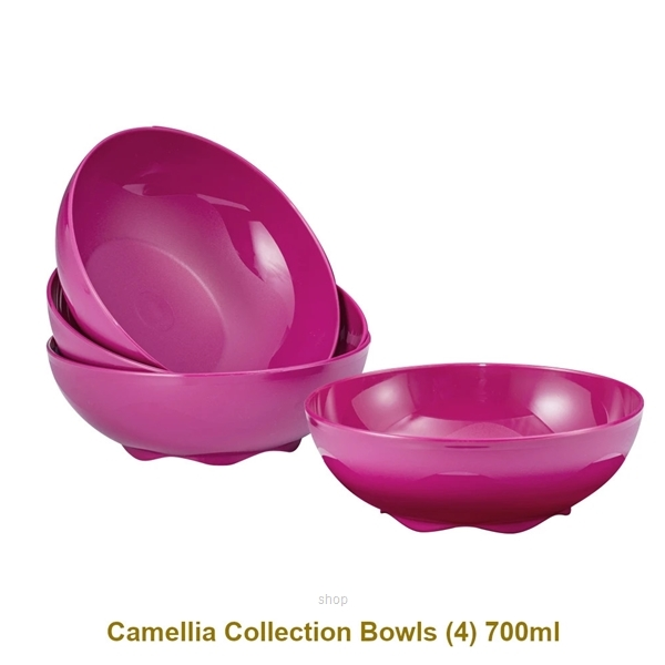 [CNY] Tupperware 12pcs Camellia Collection Dining Serveware Set - A2881-2