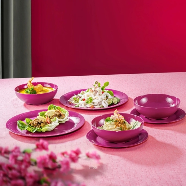 [CNY] Tupperware 12pcs Camellia Collection Dining Serveware Set - A2881-4