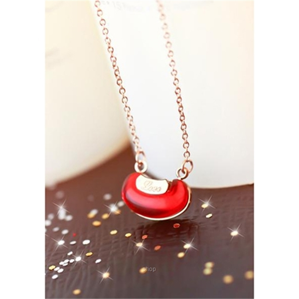Celovis Always Missing You Red Bean Love Necklace-1