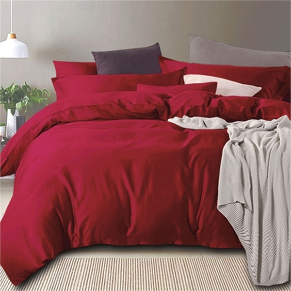Essina Royale Egyptian 100% Cotton 950TC Quilt Cover Set Red - QJ006618-0