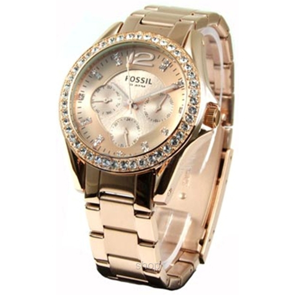 Fossil Women's Riley Mini Plated Stainless Steel Watch - ES2811-1
