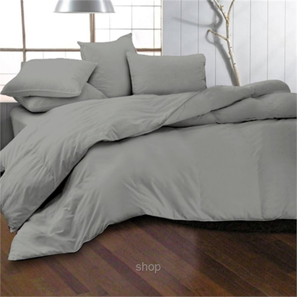 Essina 620TC Candies Collection Fitted Sheet Set Grey Mercury-0