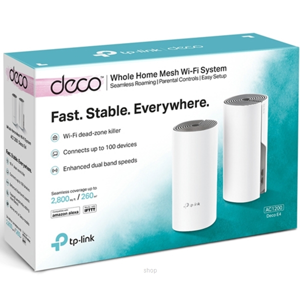 TP-Link Deco E4 V1 AC1200 Whole Home Mesh Wi-Fi System (2-Pack)-2
