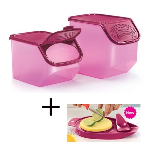 [Bundle Set] Tupperware Garlic-N-All Set + Chop N Pour Set with Spatula-0